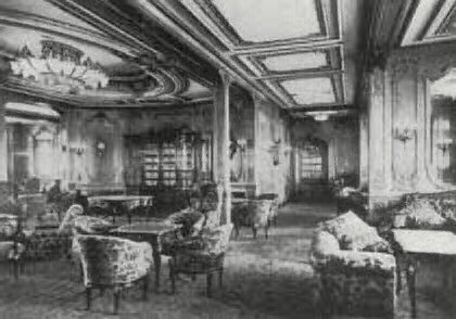 Titanicrevisited rooms on the titanic for 14th and grand salon