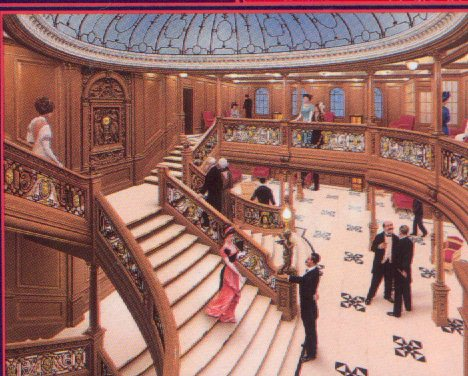 A Beautiful Painting Of The Grand Staircase.: